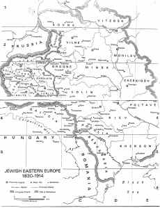 Map of Jewish Eastern Europe
